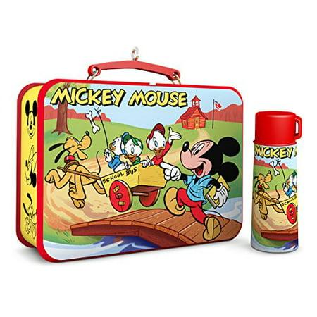 Hallmark Disney Mickey Mouse & Friends - Lunchbox Thermos Keepsake Christmas Ornament ()