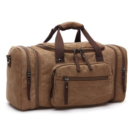 Gym Tote Bags (Bagail Men Vintage Canvas Travel Bag Tote Luggage Gym Duffle Bag Handbag Weekend)