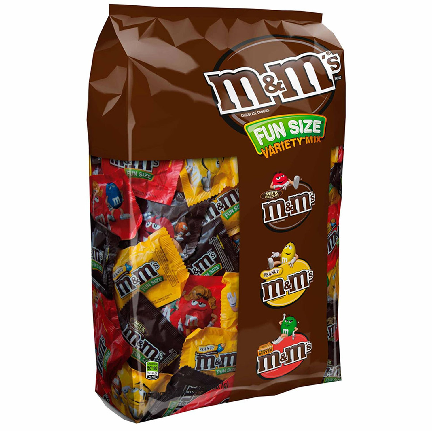 M&M's, Fun Size Assorted Candy Variety Mix, 5.3 Lbs, 150 Pc
