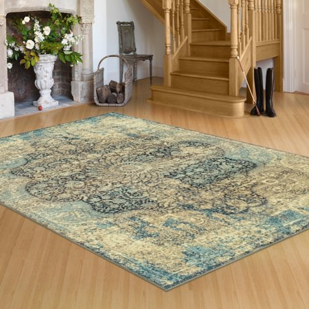 - Superior's 10mm Pile Height with Jute Backing, Durable, Fashionable and Easy Maintenance, Zelda Collection Area Rug, 2'7