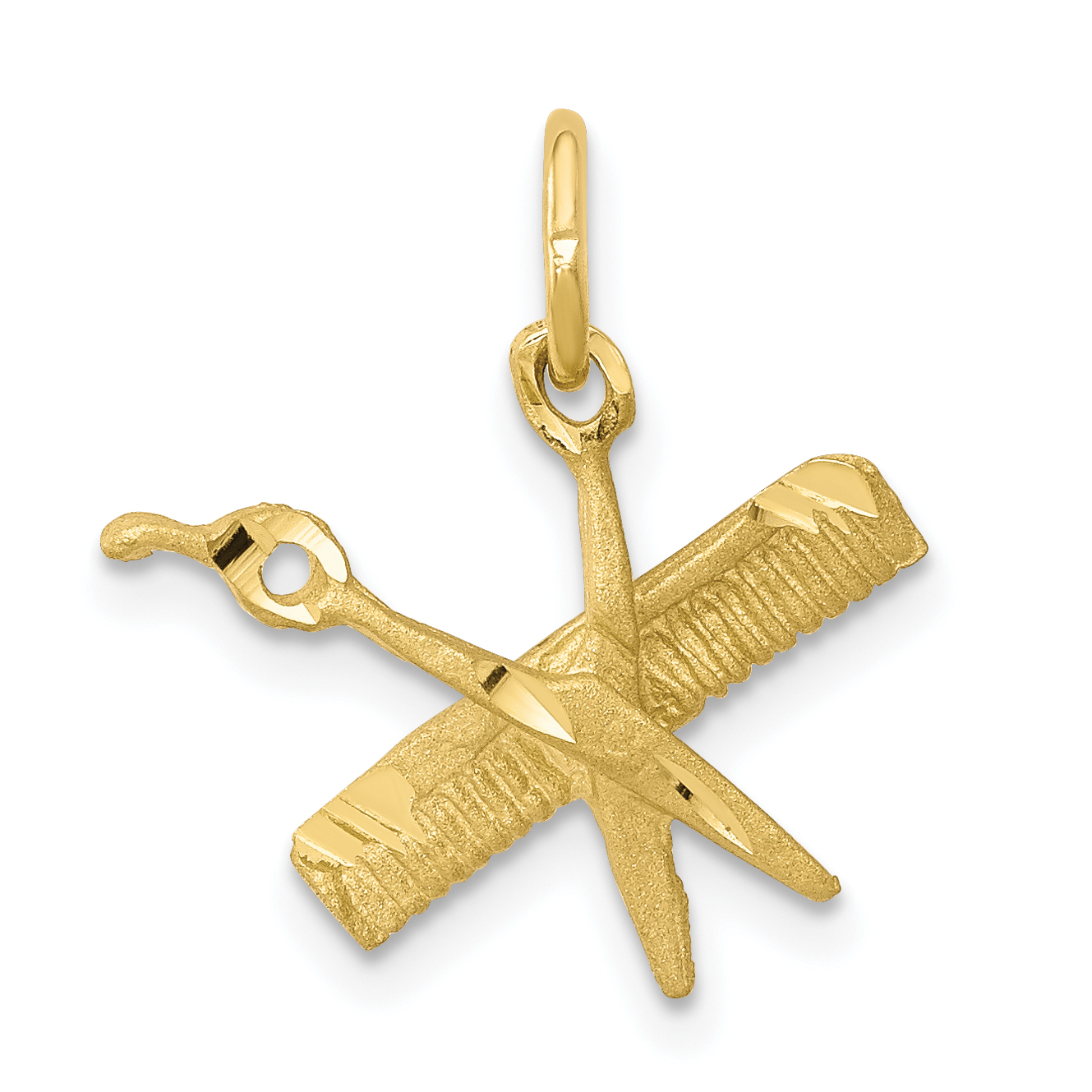 10K Yellow Gold COMB & SCISSORS CHARM - image 2 of 2