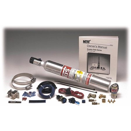 Dual Nozzle Nitrous - NOS 05029NOS Sneeky Pete Hidden Nitrous System; Complete Kit; 30 HP Max; w/10 oz. Bottle/Fan Spray Nozzle; Carbureted Only;