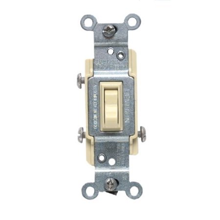Leviton Residential Ivory Toggle Switch CO/ALR Aluminum Wiring 3-Way 2653-2I