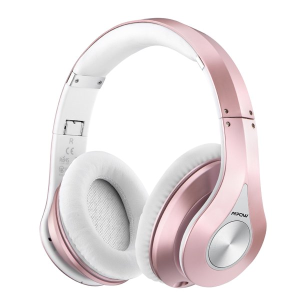 Mpow On Ear Bluetooth Headphones With Noise Cancelling Stereo Foldable Headband Ergonomic Designed Soft Earmuffs Built In Mic 13 Hours Playback Time For Pc Laptops And Smartphones Rose Gold Walmart Com Walmart Com