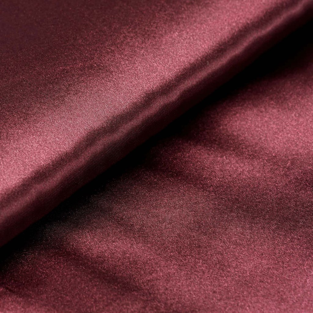 "54"" Wide x 10 yards Satin Fabric Bridal Bolt - Burgundy"