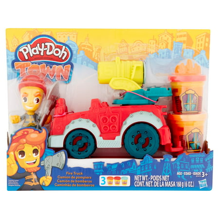 Play Doh Town Fire Truck With 3 Cans Of Dough Walmart Com