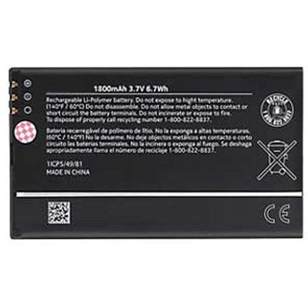 Replacement for Nokia BP-4W Battery Fits Lumia 810 Lumia 822 ()