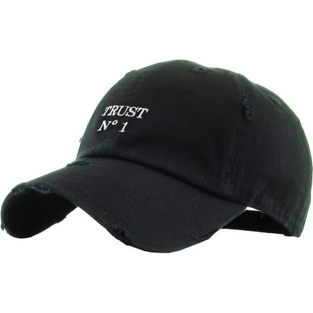 Trust No 1 Vintage Distressed Dad Hat Baseball Cap Polo Style ()