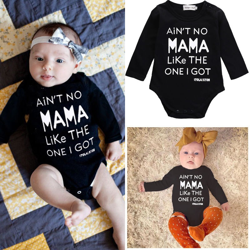 Newborn Infant Baby Boys Girls Clothes Long Sleeve Romper Jumpsuit Outfits Set