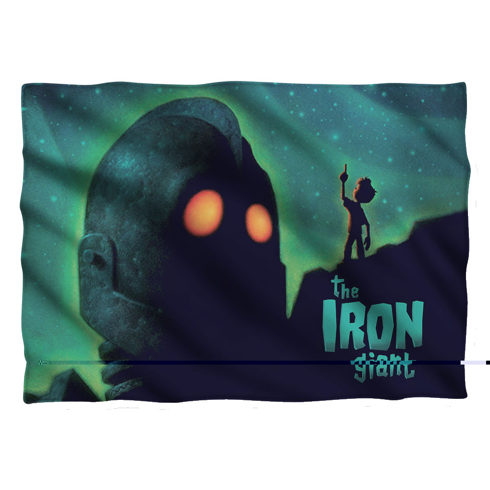 Iron Giant Look To The Stars Pillow Case White One Size