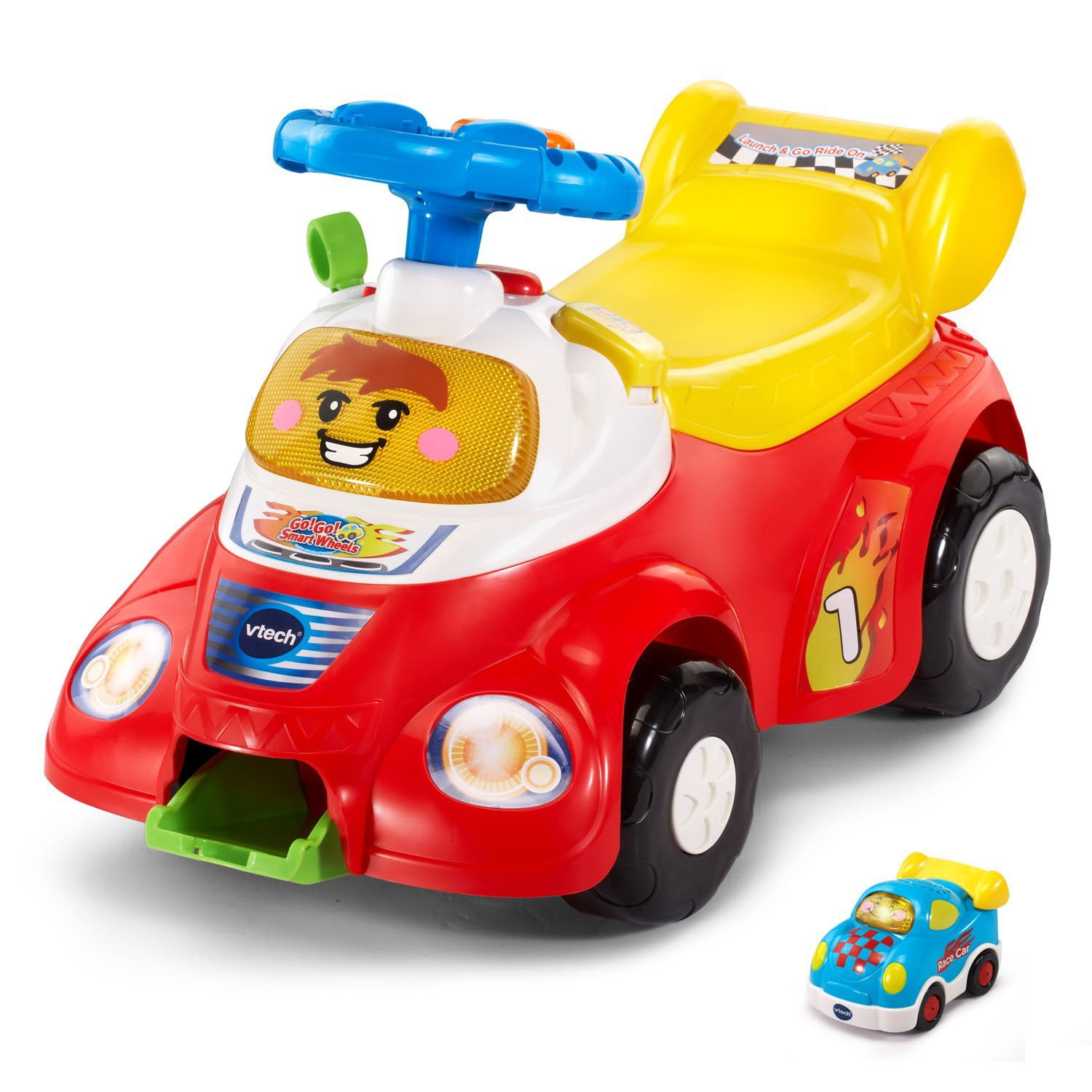 VTech Go! Go! Smart Wheels Launch and Go Ride On (Frustration Free Packaging) by
