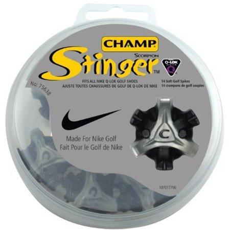 detailed look 8ab36 0f97a 2 NEW Champ Scorpion Stinger Nike Q-Lok Golf Spikes   Cleats Plastic -  Walmart.com