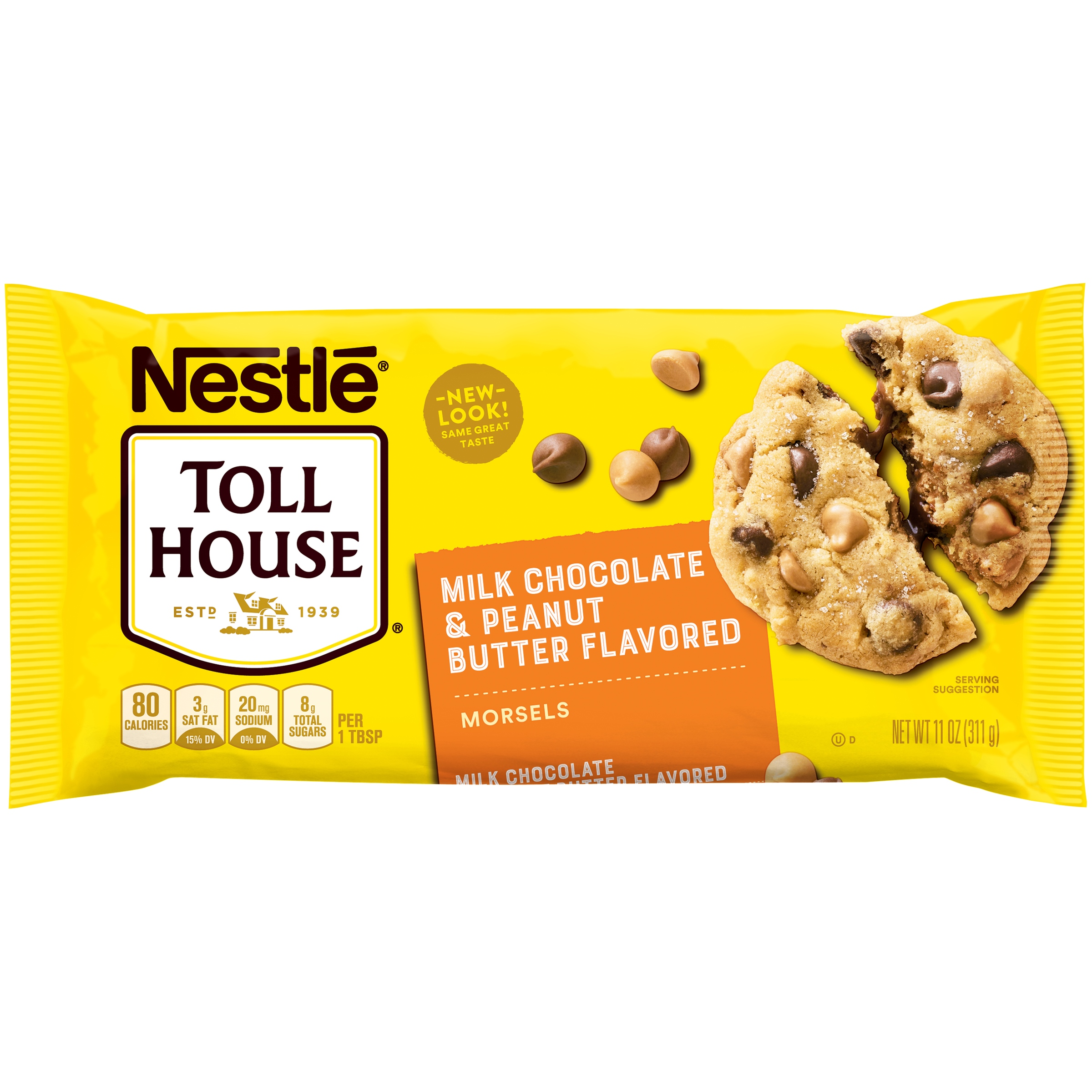 NESTLE TOLL HOUSE Milk Chocolate & Peanut Butter Morsels 11 oz. Bag