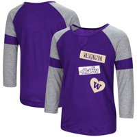 Washington Huskies Colosseum Girls Youth All You Need 3/4-Sleeve Raglan T-Shirt - Purple