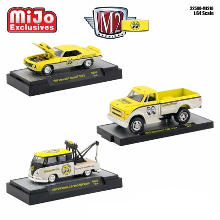 Mooneyes Assortment Set of 3 Cars Limited Edition to 3,200 pieces Worldwide 1/64 Diecast Models by M2 Machines ()
