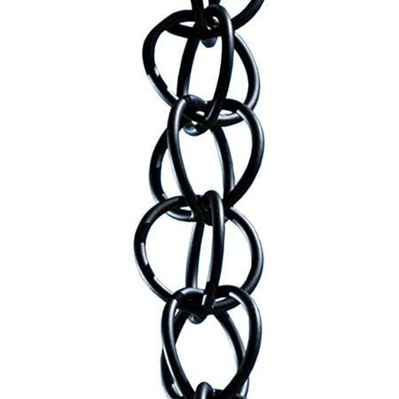 Monarch Ring Rain Chain, 8-1/2 Feet Length, Aluminum Flat Black Powder  Coated