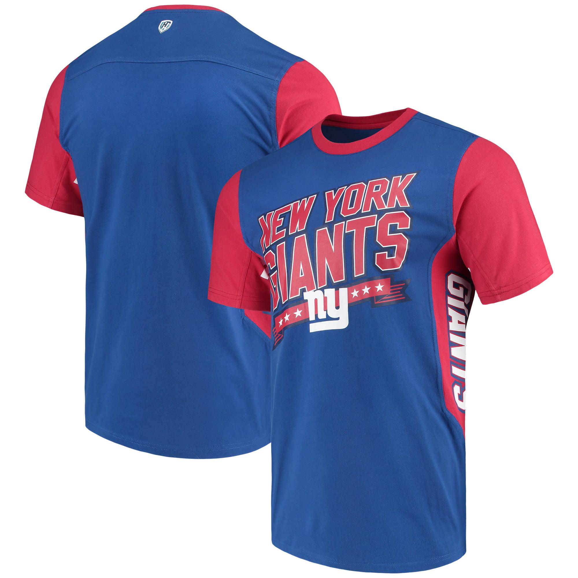 New York Giants Hands High Rally T-Shirt - Royal/Red