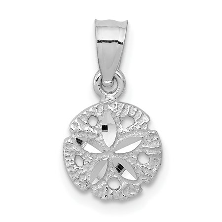 14k White Gold Sand Dollar Sea Star Starfish Pendant Charm Necklace Shore Shell Gifts For Women For Her - Sand Dollars For Sale