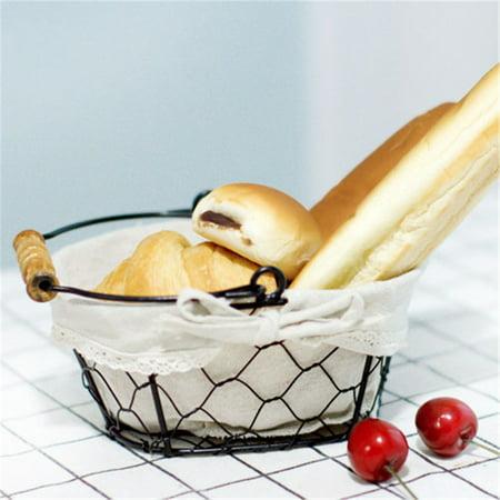 Iron Art Wire Sundries Storage Basket Desktop Grocery Organizer Small Fruit Bowl Portable Mini Basket