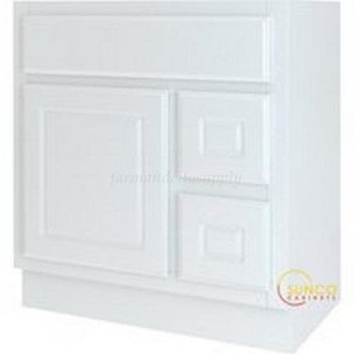 Sunco VDR3018RYT 30 in. X 18 in. 1 Door 2 Drawer Vanity, White