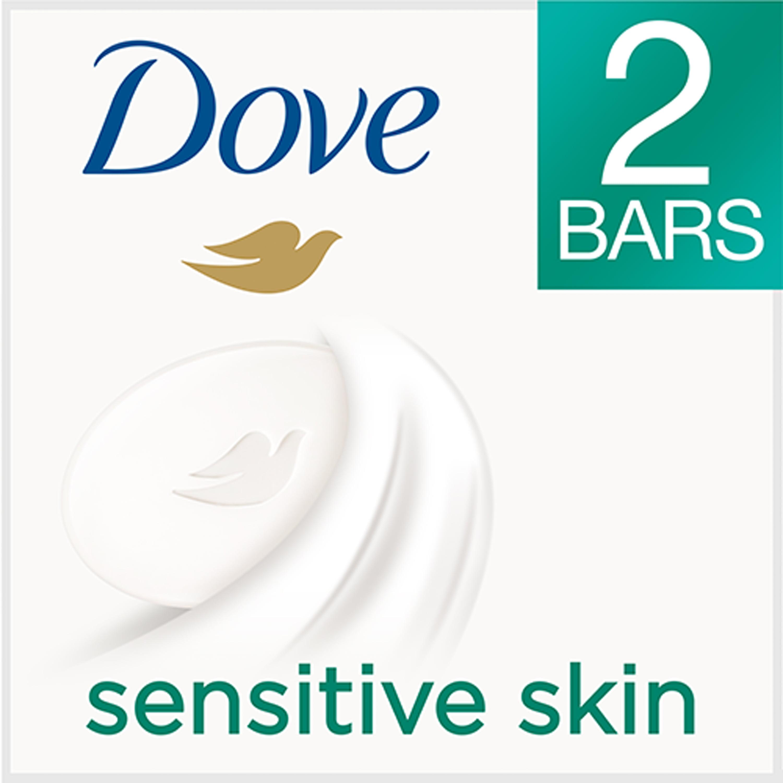 Dove Sensitive Skin Beauty Bar, 4 oz, 2 Bar