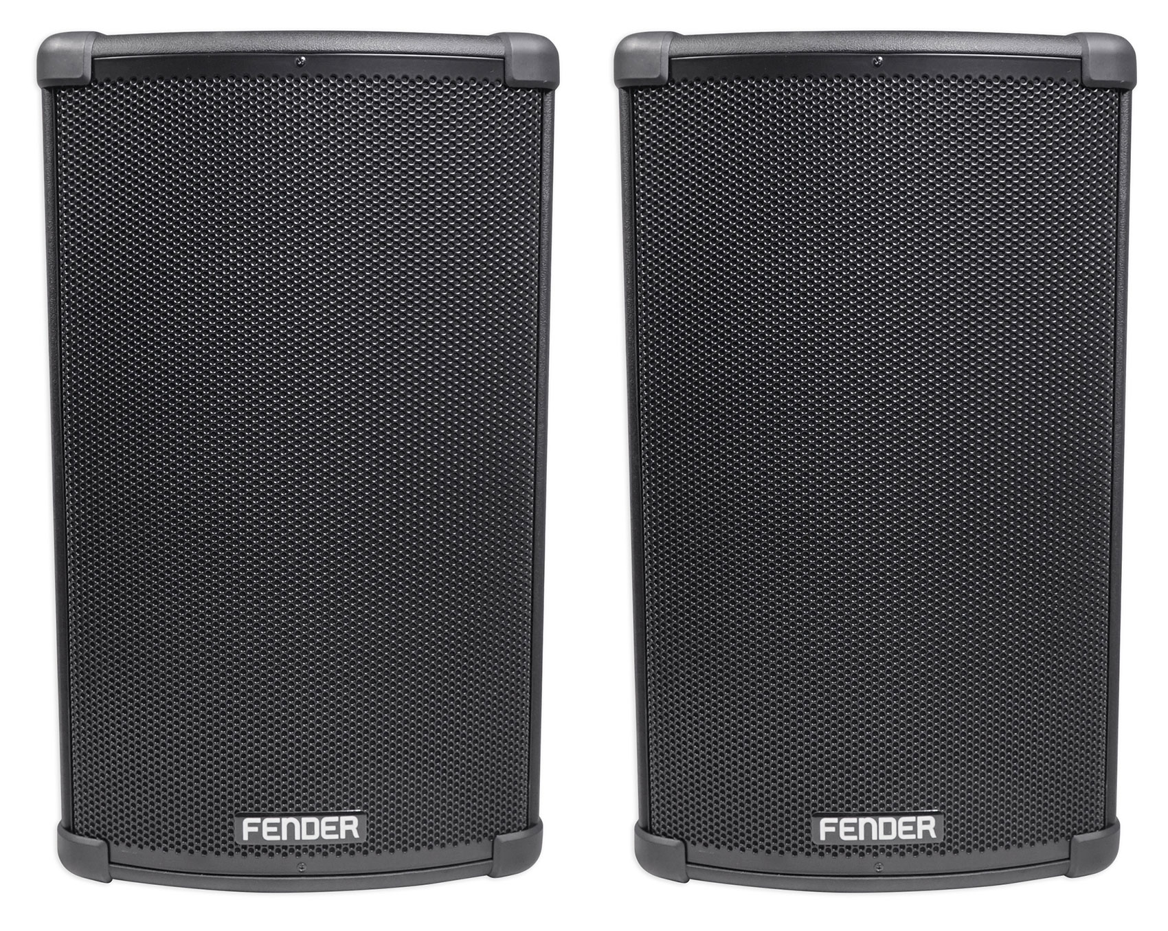 "(2) FENDER FIGHTER 12"" 2200w Powered DJ PA Speakers w  Bluetooth, Wood Enclosure by Fender"