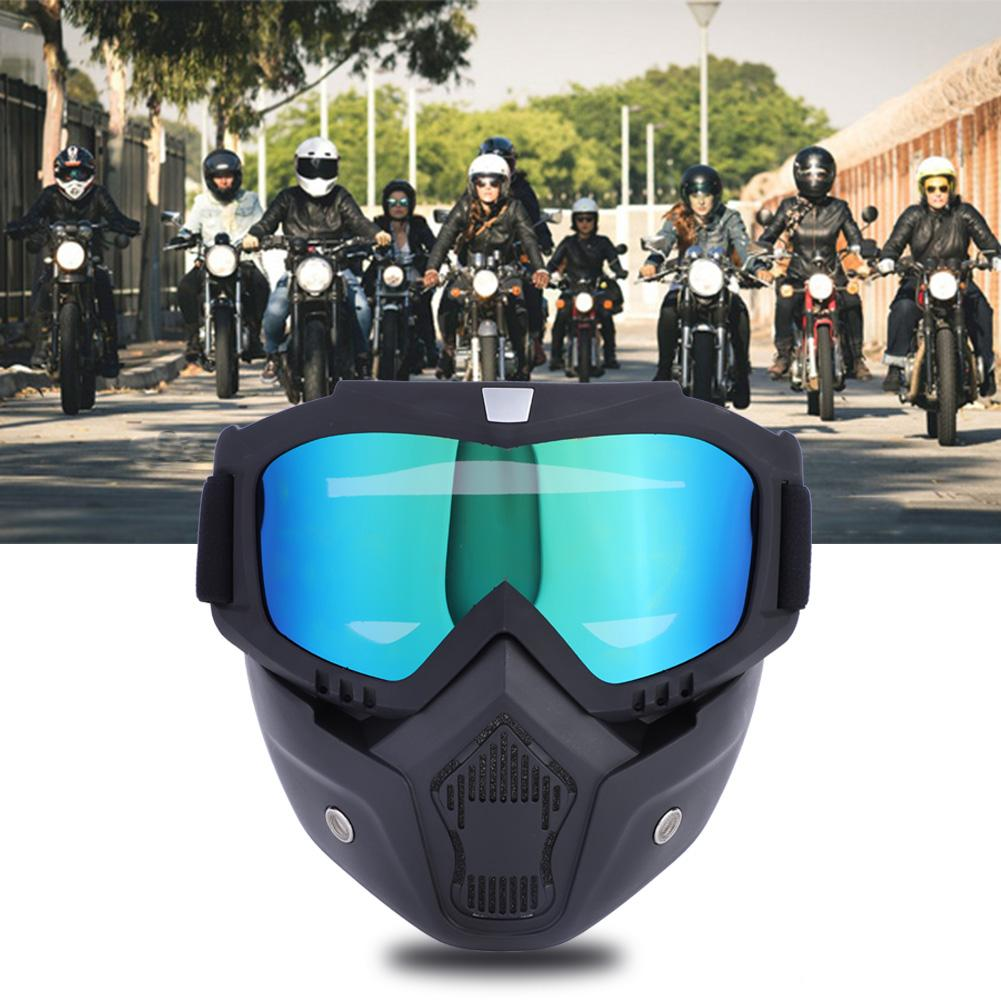 Dilwe 5 Colors Sports Ski Snowboard Cycling Face Mask with Detachable Eye Glasses, Ski Mask, Face Mask