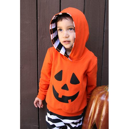 Womail Infant Baby Boy Girls Pumpkin Hooded Blouse +Stripe Pants Halloween Outfits Set