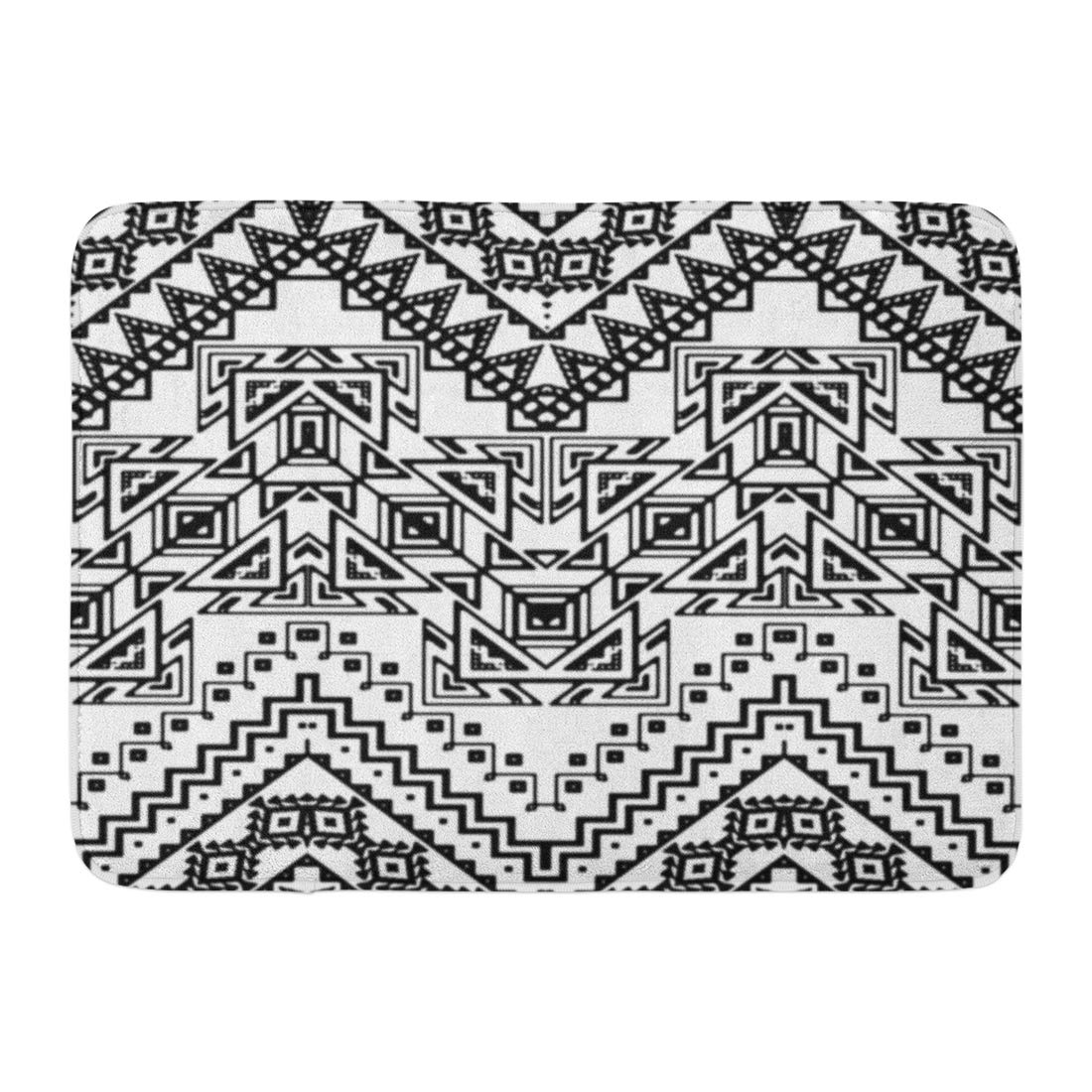 Black And White Chevron Bathroom Rug: GODPOK Africa Summer Chevron Pattern With Aztec Ethnic And