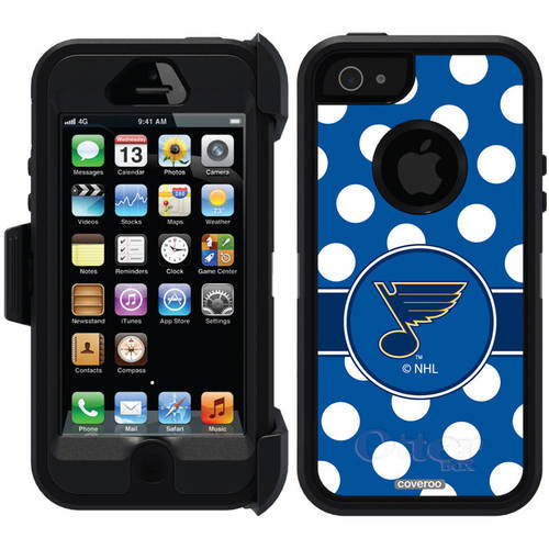 St. Louis Blues Polka Dots Design on OtterBox Defender Series Case for Apple iPhone 5/5s