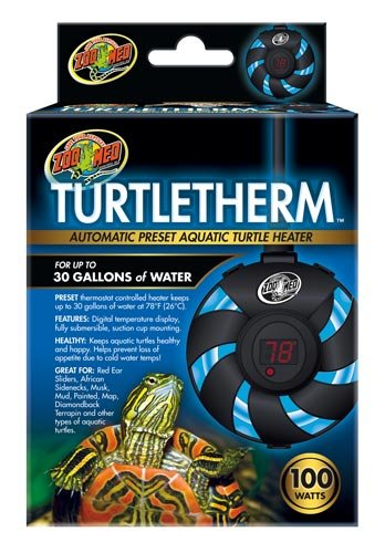 Labs 100W Turtletherm Aquatic Turtle Heater, Heats up to 78 degrees F By Zoo Med by