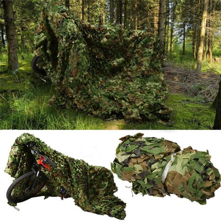 Camouflage Camping Shooting Hunting Net Woodland SunShade Netting Military Sunscreen Blind Nets Outdoor Clothing Hide Net for Wildlife Photography Rot Mould Resistant