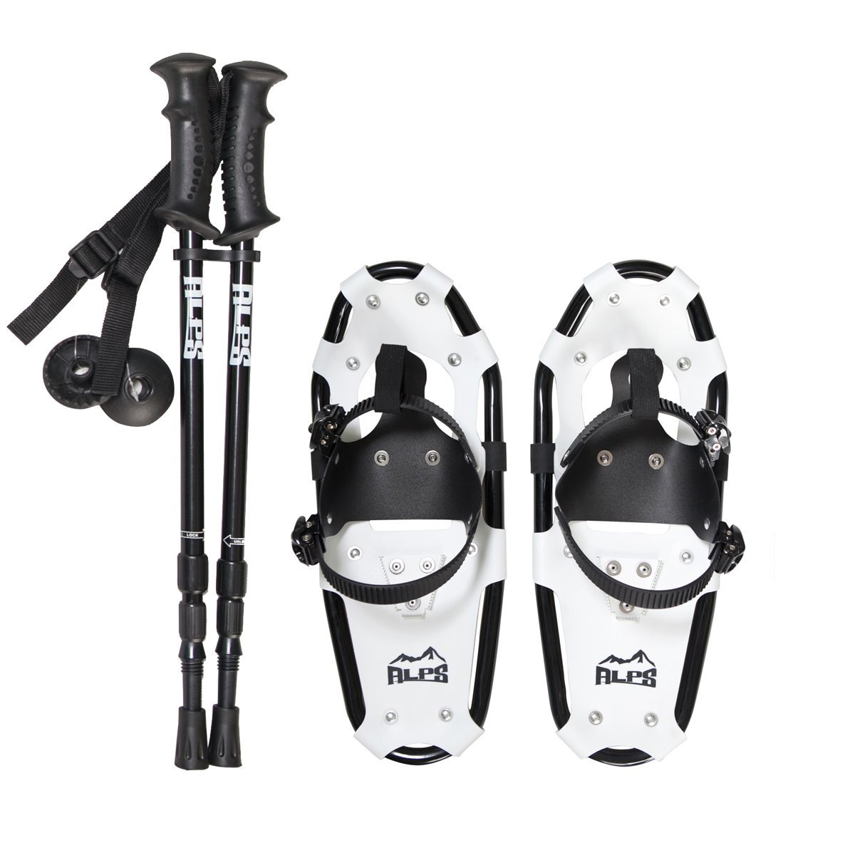 ALPS Snowshoes with Snow Pole and Carrying Tote by