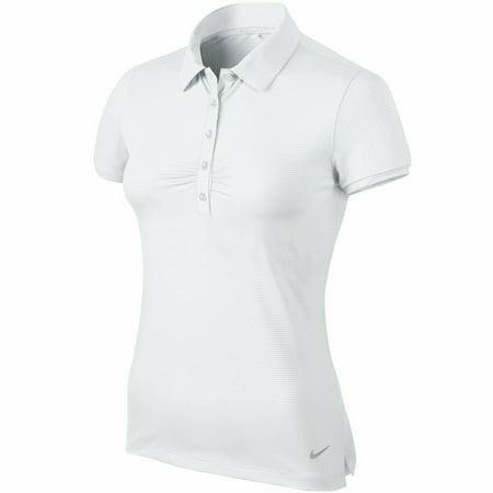 Nike WOMENS Golf Mini Stripe Polo DRI-FIT 717390 100 size L retail $65 new