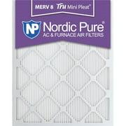 Nordic Pure 16x24x1M8MiniPleat-12 Tru Mini Pleat MERV 8 AC Furnace Air Filters, 16 x 24 x 1 in. - Pack of 12