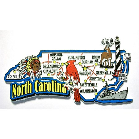 North Carolina Jumbo State Map Fridge Magnet
