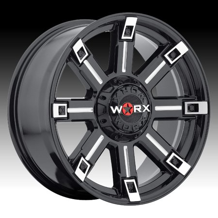 Worx 806 Triton Gloss Black Milled 18x9 5x5 / 5x5.5 12mm