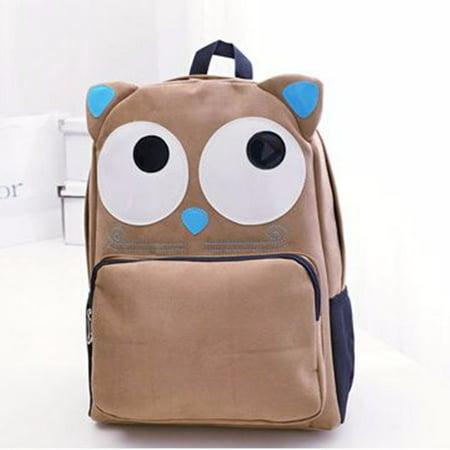 New Fashion Travel Women Girl Owl Backpacks for Adults School Bookbag Rucksack Shoulder Bag