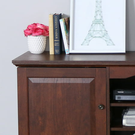 """Walker Edison Wood TV Stand for TVs up to 60"""" - Traditional Brown"""