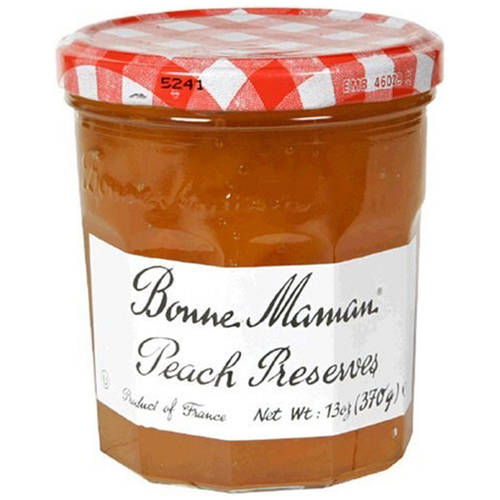 Bonne Maman Peach Preserves, 13 oz, (Pack of 4) by