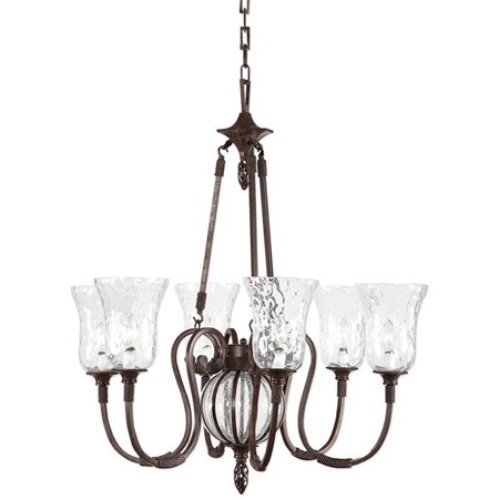 Uttermost Galeana 6 Light Iron Chandelier in Antique Saddle - image 1 of 8