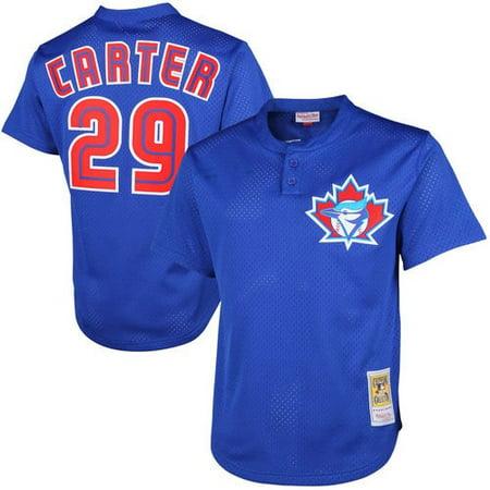 1997 Joe Carter Toronto Blue Jays Mitchell & Ness Cooperstown Mesh Batting Practice Jersey -