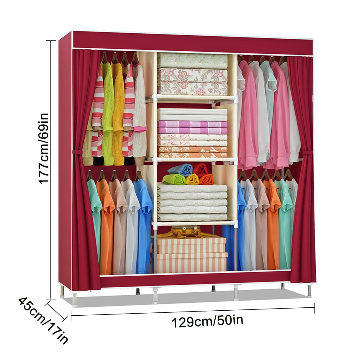 Closet Hanging Shelves Wardrobe Storage Shelves Clothes Hanging Shelves