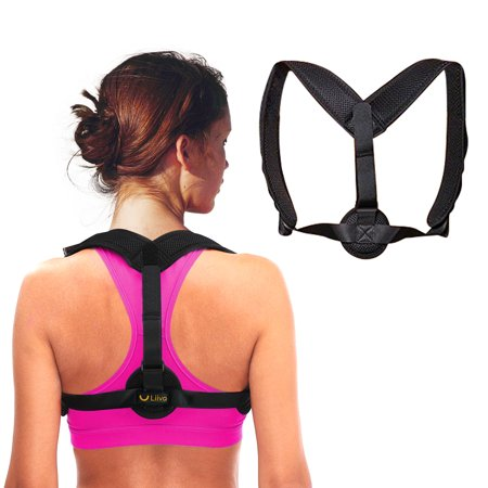 Liiva Back Posture Corrector for Men For Women - Adjustable Posture Brace for Back Clavicle Support and Upper Back Correction ()