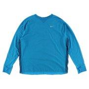 Nike Men's Dri Fit Sprint Crew Long Sleeve Running Shirt Blue XXL