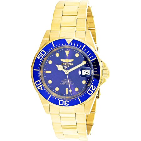 - Invicta Men's Men Automatic Pro Diver G3 8930 Blue Gold Tone Self Wind Diving Watch