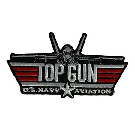 TOP GUN U.S. NAVY AVIATION Patch - Red/White/Black - Veteran Owned Business