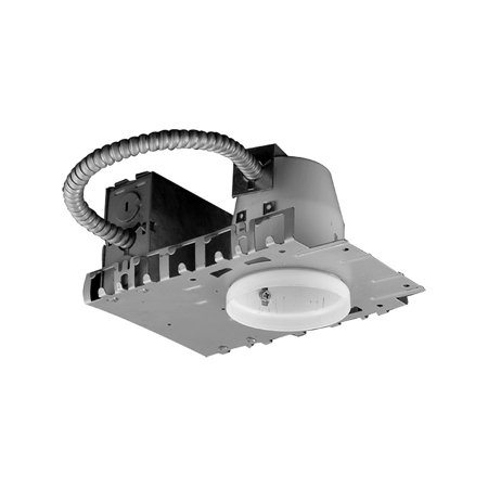 Jesco Lighting RS3001B Line Voltage Non - IC Housing for New Construction 3 in. Silver Finish (Non Ic Line)