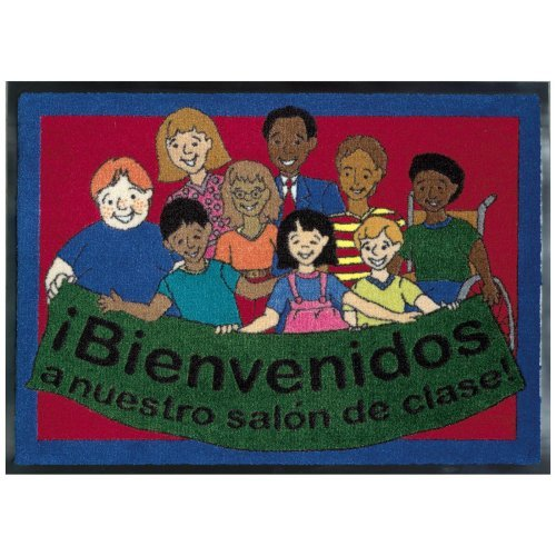 Joy Carpets Spanish Welcome to Our Classroom Mat