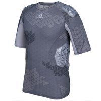adidas Techfit Ironskin Mens 5 Pad Short Sleeve Football Shirt